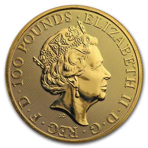 Queens Beast Falcon 1 troy ounce gouden munt 2019