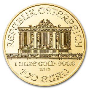 De Philharmoniker 1 troy ounce gouden munt 2019