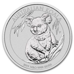 zilveren Koala munt