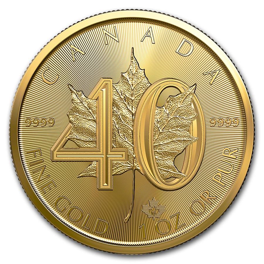 Maple Leaf 1 troy ounce gouden munt 40-jaar Jubileum