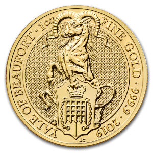 Queens Beast Yale 1 troy ounce gouden munt