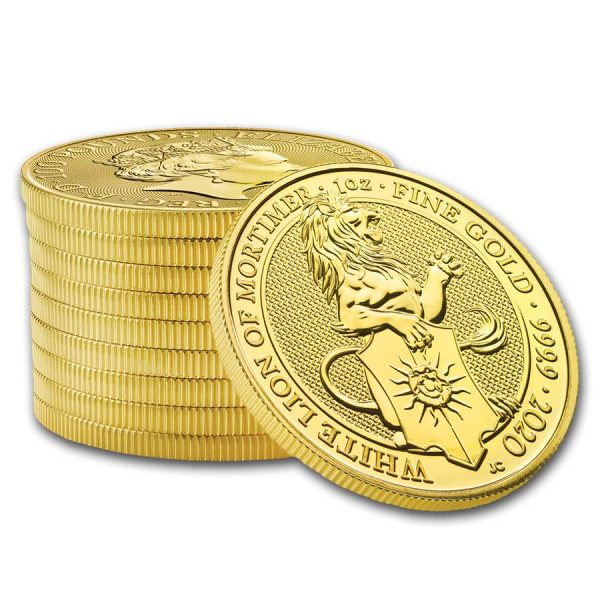 Queens Beast White Lion 1 troy ounce gouden munt