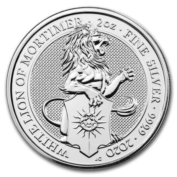 White Lion 2 troy ounce zilveren munt