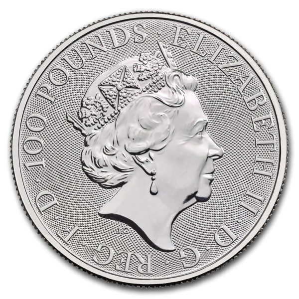 Queens Beast Falcon 1 troy ounce platina