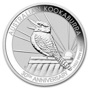 Kookaburra 1 kilozilveren munt 2020