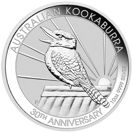 Kookaburra 10 troy ounce zilveren munt 2020