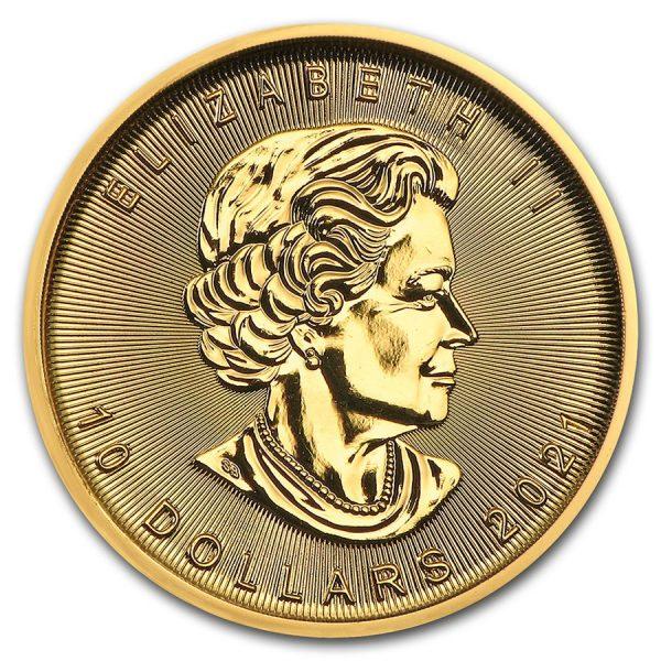 Maple Leaf 1/4 troy ounce gouden munt 2021