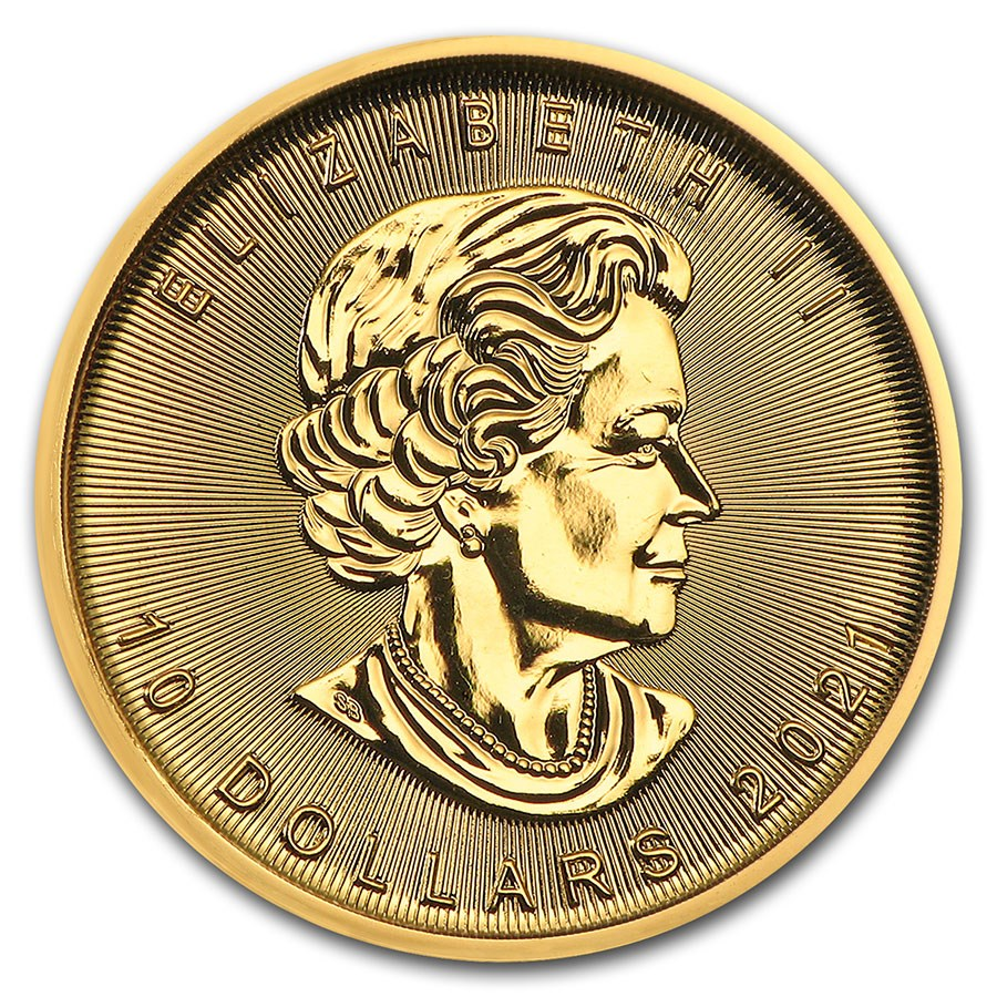 Maple Leaf 1/4 troy ounce gouden munt 2021