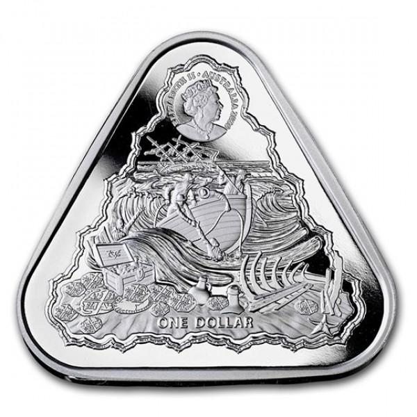 Batavia Triangular 1 troy ounce zilveren munt 2020