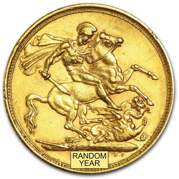 British Gold Sovereign Queen Victoria Young Head gouden munt