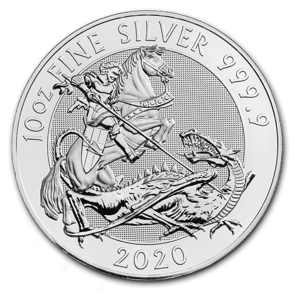 The Valiant 10 troy ounce zilveren munt 2020