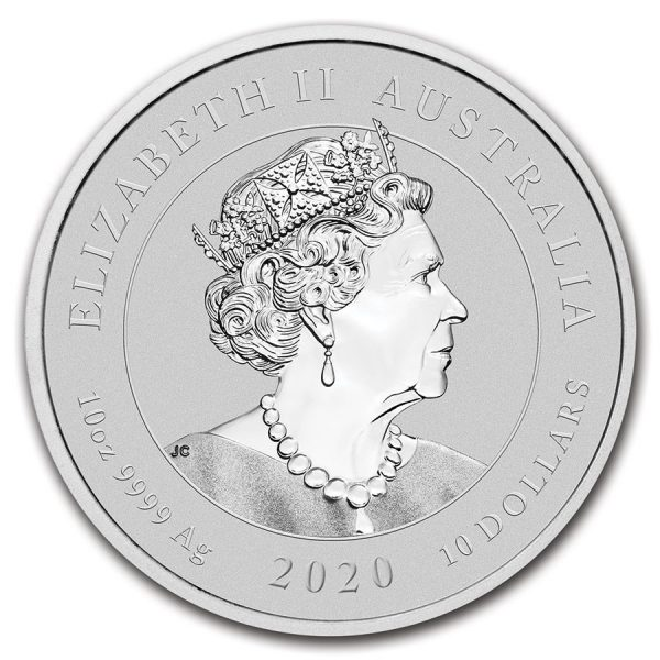 Dragon & Tiger 10 troy ounce zilveren munt 2020