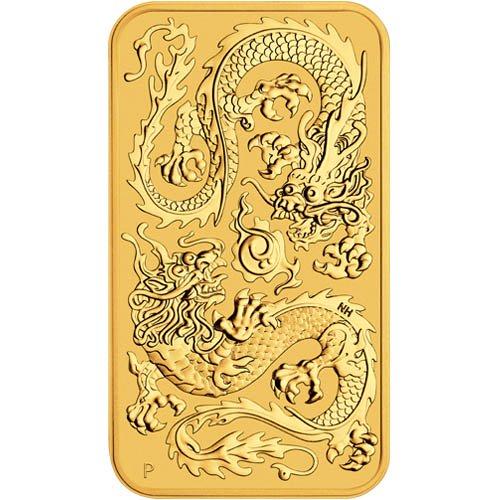 Rectangular gouden munt 2020