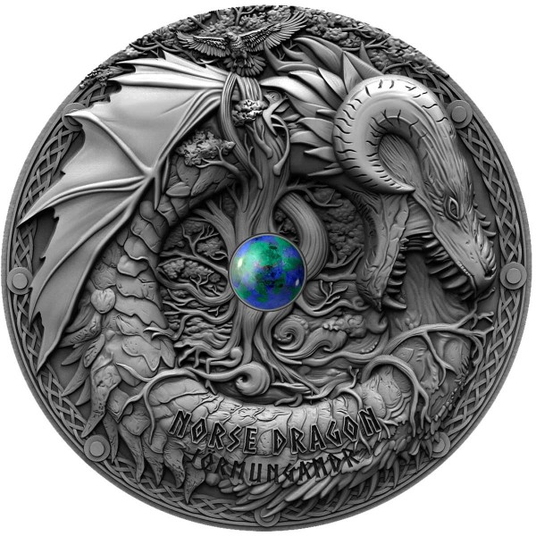 Norse Dragon Azurite