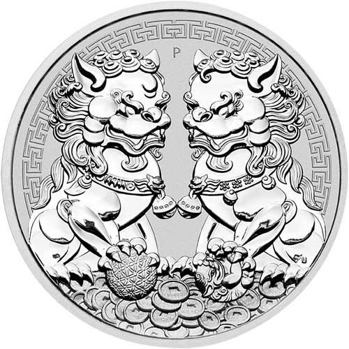 Guardian Lion Double Pixiu 1 troy ounce zilveren munt 2020