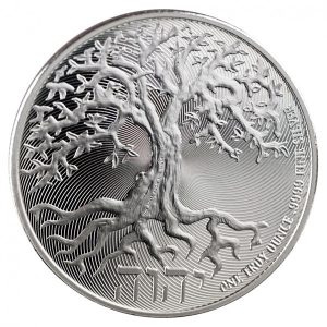 Niue Tree of Life 1 troy ounce zilveren munt 2020