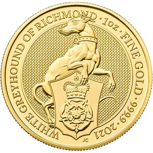 Greyhound 1 troy ounce gouden