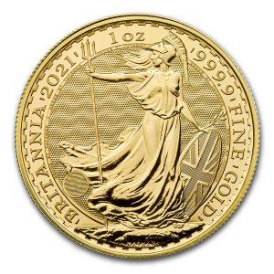 Britannia 1 Troy ounce gouden munt 2021
