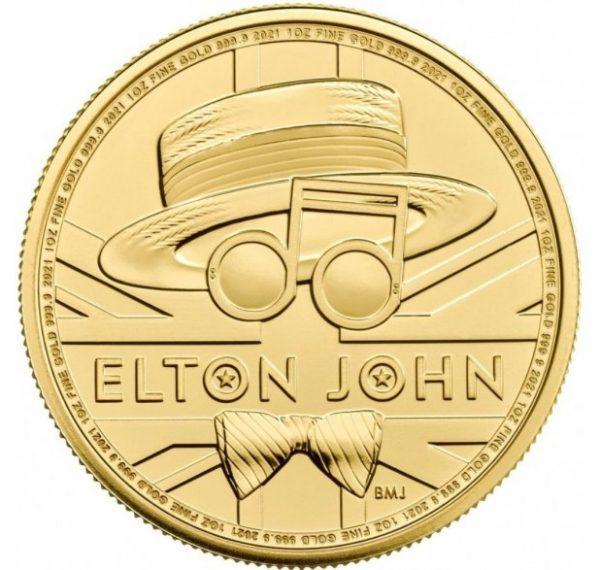 Elton John 1 troy ounce gouden