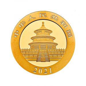 Panda 30 gram gouden munt 2021