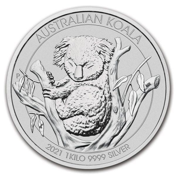 Koala 1 kilo zilveren munt 2021