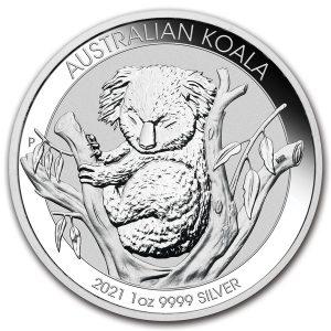 Koala 1 troy ounce zilveren munt 2021