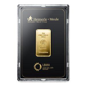 Heimerle + Meule 5 gram goudbaar