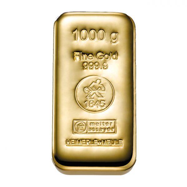 Heimerle + Meule 1000 gram gegoten goudbaar