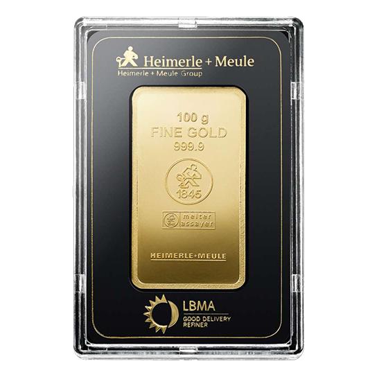 Heimerle + Meule 100 gram goudbaar