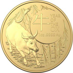 Lunar Ox RAM 1 troy ounce gouden munt