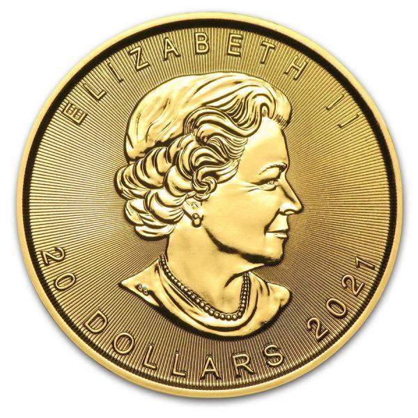Maple Leaf 1/2 troy ounce gouden munt 2021