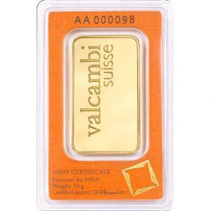 Valcambi 50 gram goudbaar