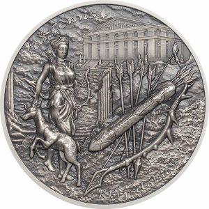 Artemis Bow & Arrow Mythology 2 troy ounce zilveren munt 2020