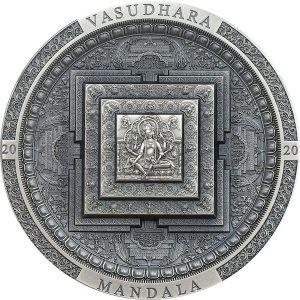 Vasudhara Mandala 3 troy ounce zilveren munt 2020