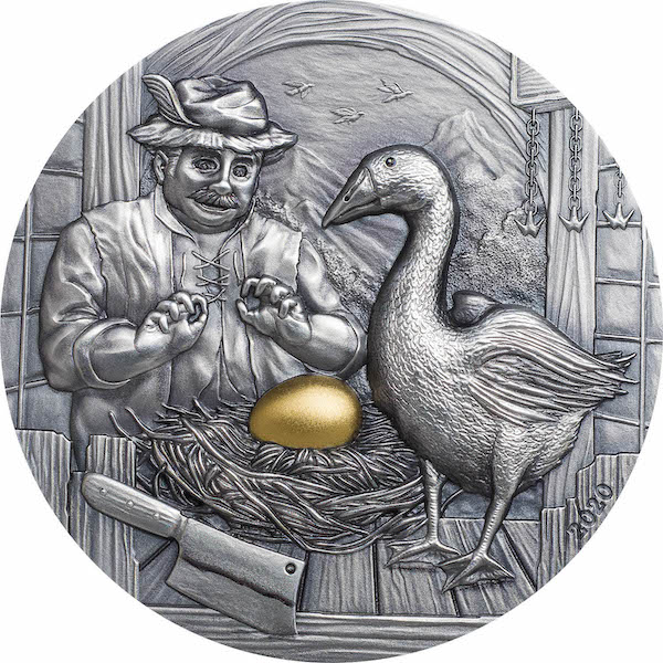 Fables #1 Goose and the Golden Egg 2 troy ounce zilveren munt 2020