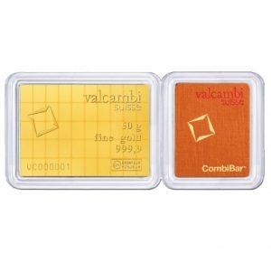 Valcambi 50 gram CombiBar