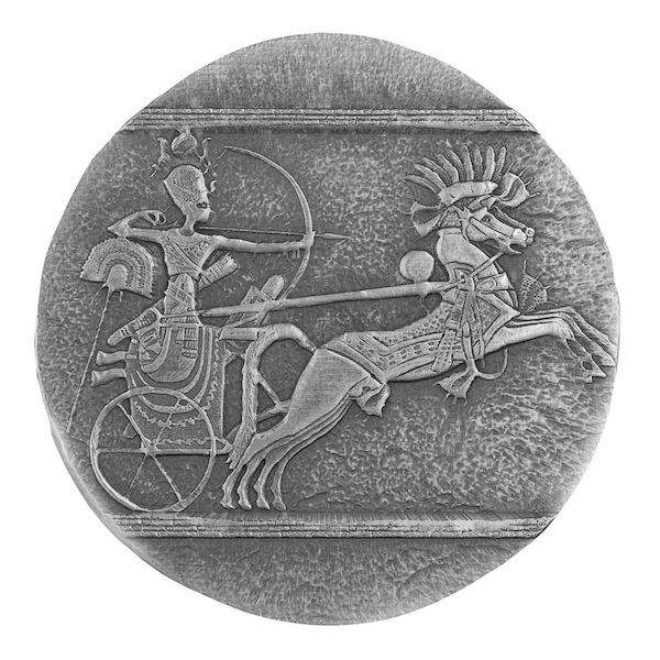 Chad Egyptian Chariot of War 5 troy ounce zilveren munt 2020