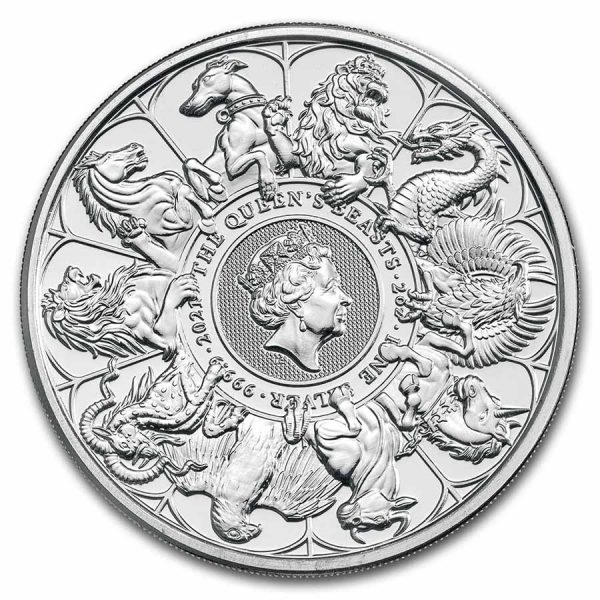 Queens Beast Completer Coin 2 troy ounce zilver
